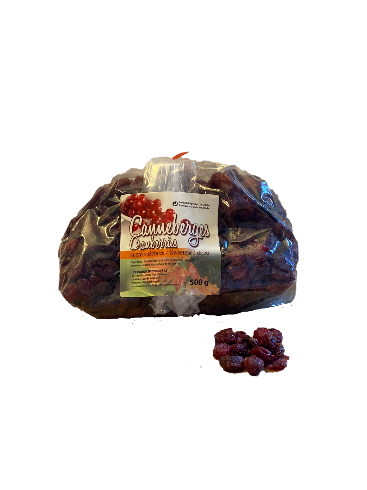 Dried Cranberries (bag 500g)