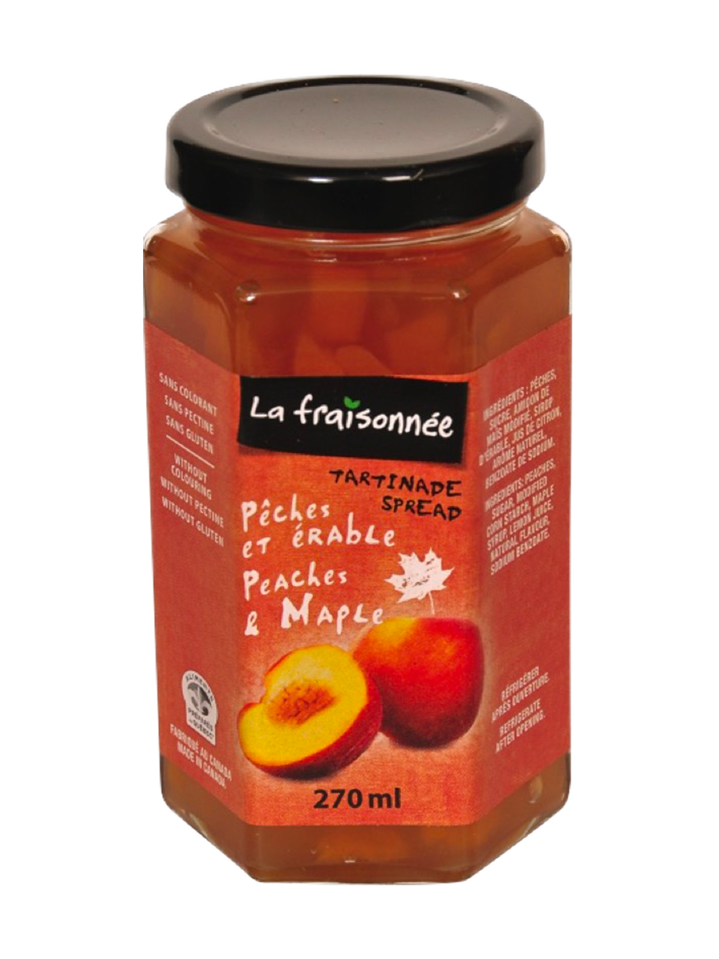 Pack 3 Maple's peaches Jam  (270 ml)